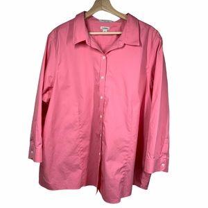 L.L. Bean Pink Pinpoint Oxford- 3x